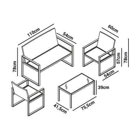 Diego Ricol recomienda: Set de muebles de jardín McHaus de ratán por ...